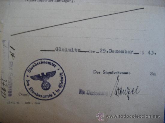 Militaria: DOCUMENTO ORIGINAL ALEMANIA WW2 100 %100 AUTÉNTICO NSDAP - Foto 3 - 32237645