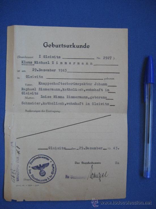 Militaria: DOCUMENTO ORIGINAL ALEMANIA WW2 100 %100 AUTÉNTICO NSDAP - Foto 4 - 32237645