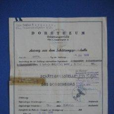 Militaria: DOCUMENTO ORIGINAL ALEMANIA WW2 100 %100 AUTÉNTICO NSDAP. Lote 32237678