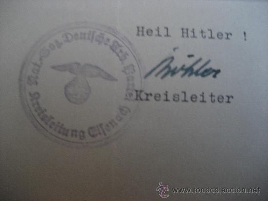 Militaria: DOCUMENTO ORIGINAL ALEMANIA WW2 100 %100 AUTÉNTICO NSDAP - Foto 4 - 32237733