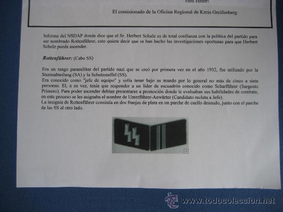 Militaria: DOCUMENTO ORIGINAL ALEMANIA WW2 100 %100 AUTÉNTICO NSDAP - Foto 7 - 32238233