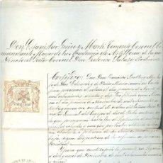 Militaria: CERTIFICADO DE LA ACADEMIA DE ARTILLERÍA DE SEGOVIA - LICENCIA ABSOLUTA DE ALUMNO - 1895. Lote 32243465