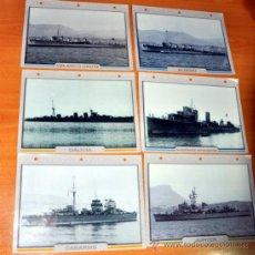 Militaria: LOTE DE 6 FICHAS EN ALEMÁN DE BUQUES DE LA ARMADA ESPAÑOLA - 1918-1935 - ATLAS VERLAG 1999. Lote 32311675