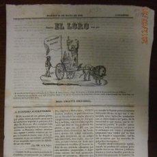 Militaria: EL LORO, HOJA VOLANTE JOCO-SERIA, 1842. Lote 32701271