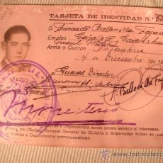 Militaria: ANTIGUA DOCUMENTACION CARNET MILITAR EJERCITO INFANTERIA, CABALLERO CADETE, ALICANTE, AÑO 1944. Lote 33058132