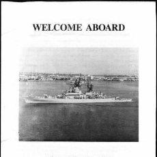 Militaria: BIENVENIDO A BORDO USS GRIDLEY CG-21 + TP. Lote 31976173