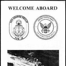 Militaria: WELCOME ABOARD FRAGATA PORTAMISILES USS GEORGE PHILIP. Lote 33089502