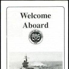 Militaria: WELCOME ABOARD PORTAAVIONES USS JOHN F. KENNEDY. Lote 33089952