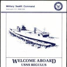 Militaria: WELCOME ABOARD USNS REGULUS. Lote 33091055