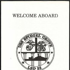 Militaria: WELCOME ABOARD ANFIBIO USS SPIEGEL GROVE. Lote 33091768