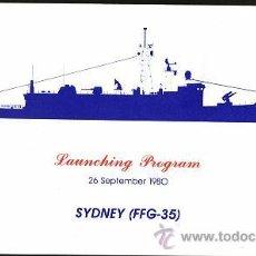 Militaria: BOTADURA LANZAMISILES USS SYDNEY FFG-35. Lote 33092342