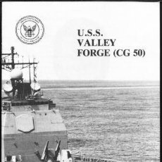 Militaria: WELCOME ABOARD USS VALLEY FORGE CG-50. Lote 33092952