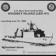 Militaria: BOTADURA USS WHIDBEY ISLAND LSD-41. Lote 33093148
