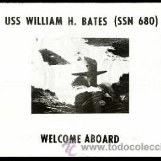 Militaria: WELCOME ABOARD SUBMARINO USS WILLIAM H. BATES. Lote 33093421