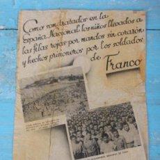 Militaria: PROPAGANDA NACIONAL EN LA GUERRA CIVIL LANZADA EN MORTERO A LAS TRINCHERAS REPUBLICANAS - DIRIGIDA A. Lote 33293767