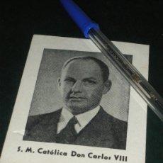 Militaria: RECUERDO DE LA MISA POR LOS MARTIRES DE LA TRADICION 1949. CARLOS VIII. CARLISTA.. Lote 33366443