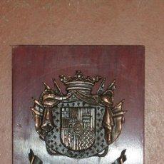 Militaria: ANTIGUA METOPA DE CAPITÁN GENERAL DE LA CUARTA REGIÓN MILITAR EN BRONZE Y MADERA. . Lote 33415701