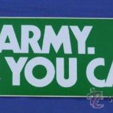 Militaria: PEGATINA GRANDE US ARMY AÑOS 80. Lote 33490168