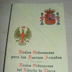 Militaria: MILITAR. REALES ORDENANZAS PARA LAS FUERZAS ARMADAS. REALES ORDENANZAS EJERCITO DE TIERRA. Lote 33690353