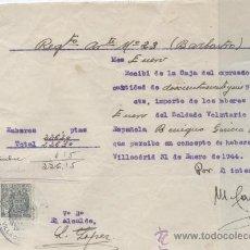 Militaria: DIVISION AZUL,14 RECIBOS PAGA FAMILIARES DE COMBATIENTES EN RUSIA,POST GUERRA CIVIL ESPAÑOLA,FIRMAS. Lote 33706394