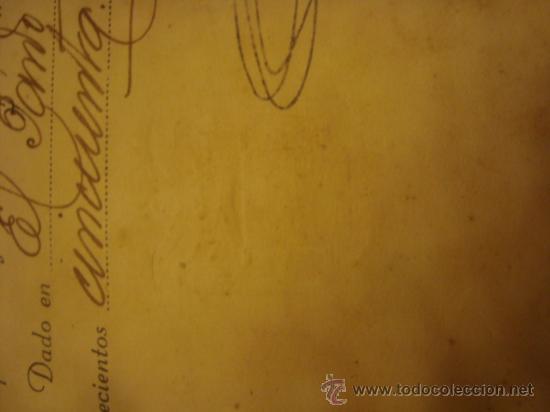 Militaria: documento militar, jefe del estado y generalisimo ejercitos, capitan general , teniente, alferez - Foto 27 - 33770154
