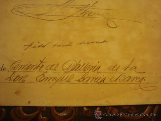 Militaria: documento militar, jefe del estado y generalisimo ejercitos, capitan general , teniente, alferez - Foto 23 - 33770154