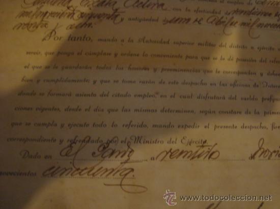 Militaria: documento militar, jefe del estado y generalisimo ejercitos, capitan general , teniente, alferez - Foto 11 - 33770154