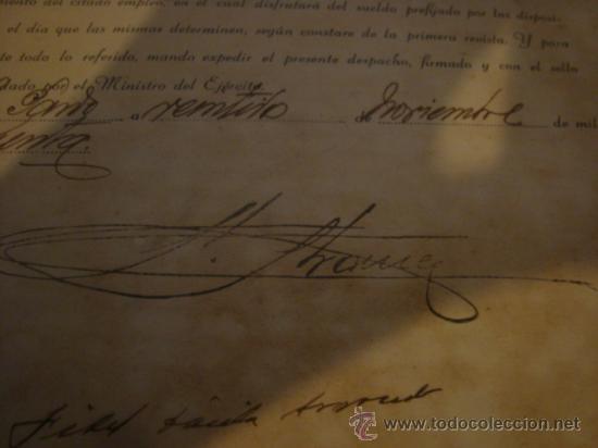 Militaria: documento militar, jefe del estado y generalisimo ejercitos, capitan general , teniente, alferez - Foto 9 - 33770154