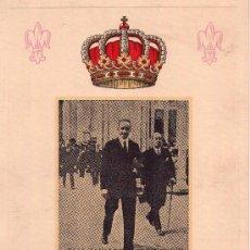 Militaria: REY ALFONSO XIII, RECORDATORIO DE LUJO DEL XIII ANIVERSARIO DE SU MUERTE,AÑO 1954.BORBONES,MONARQUIA. Lote 33783981