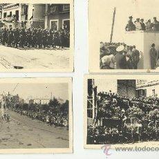Militaria: 4 FOTOGRAFIAS ORIGINALES.CADIZ DESPEDIDA DE LAS BRIGADAS ITALIANAS GUERRA CIVIL ESPAÑOLA 1939. Lote 34274632