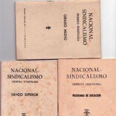 Militaria: FALANGE ESPAÑOLA, 3 LIBROS NACIONAL-SINDICALISMO,SECCION FEMENINA AÑOS 50/60,REGIMEN GENERAL FRANCO.. Lote 34346057