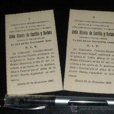 Militaria: CARLISMO, MISA POR DOÑA BLANCA DE CASTILLA Y BORBON, MADRE DE CARLOS VIII, UBEDA 1949.. Lote 34371911