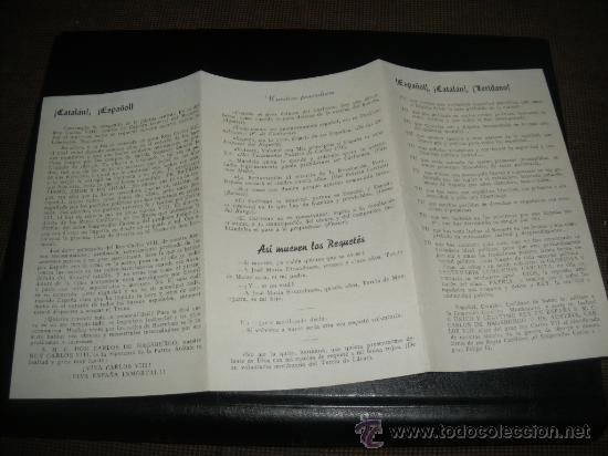 ESPAÑOL CATALAN LERIDANO, REQUETES CATALANES. CARLOS VIII, CARLISMO. (Militar - Propaganda y Documentos)