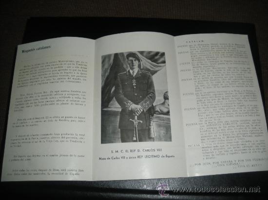 Militaria: ESPAÑOL CATALAN LERIDANO, REQUETES CATALANES. CARLOS VIII, CARLISMO. - Foto 2 - 34372255