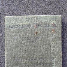 Militaria: (JX-452)CARNET DEL BATALLON MIXTO DE TRANSPORTE HIPOMOVIL Nº3 EJERCITO DEL ESTE-GUERRA CIVIL. Lote 34554625