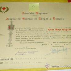Militaria: CRUZ ROJA ESPAÑOLA. NOMBRAMIENTO INSPECTOR SEGUNDO, BRIGADA TROPAS DE SOCORRO NUM 40. SEVILLA-1962. Lote 34853428