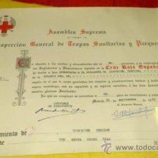 Militaria: CRUZ ROJA ESPAÑOLA. NOMBRAMIENTO INSPECTOR TERCERO, BRIGADA TROPAS DE SOCORRO NUM 40 DE SEVILLA-1962. Lote 34853560