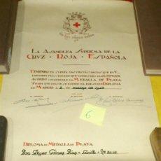 Militaria: CRUZ ROJA ESPAÑOLA. CONCEDER MEDALLA DE PLATA, MADRID-1948. Lote 34853722