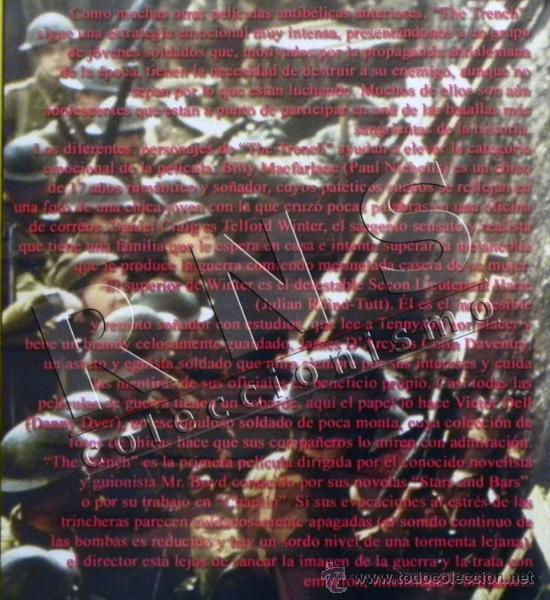 Militaria: DVD PELÍCULA THE TRENCH - LA TRINCHERA BÉLICA I 1ª GUERRA MUNDIAL DANIEL CRAIG DRAMA SOMME -NO LIBRO - Foto 2 - 35042836