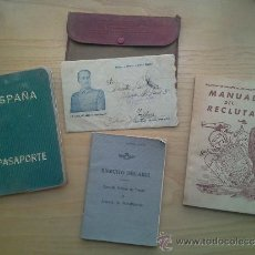 Militaria: LOTE DE DOCUMENTOS Y CARTILLAS MILITARES. Lote 35218837