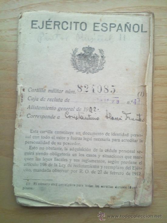 Militaria: LOTE DE DOCUMENTOS Y CARTILLAS MILITARES - Foto 3 - 35218837