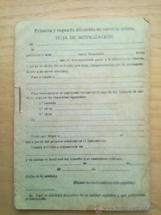 Militaria: LOTE DE DOCUMENTOS Y CARTILLAS MILITARES - Foto 8 - 35218837