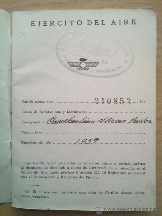 Militaria: LOTE DE DOCUMENTOS Y CARTILLAS MILITARES - Foto 20 - 35218837