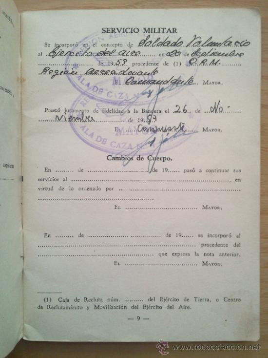 Militaria: LOTE DE DOCUMENTOS Y CARTILLAS MILITARES - Foto 22 - 35218837