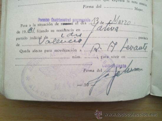 Militaria: LOTE DE DOCUMENTOS Y CARTILLAS MILITARES - Foto 24 - 35218837
