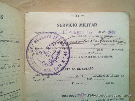 Militaria: LOTE DE DOCUMENTOS Y CARTILLAS MILITARES - Foto 5 - 35218837