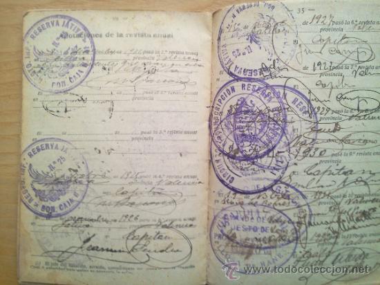 Militaria: LOTE DE DOCUMENTOS Y CARTILLAS MILITARES - Foto 6 - 35218837