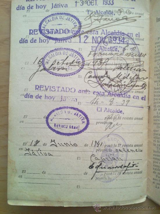 Militaria: LOTE DE DOCUMENTOS Y CARTILLAS MILITARES - Foto 7 - 35218837