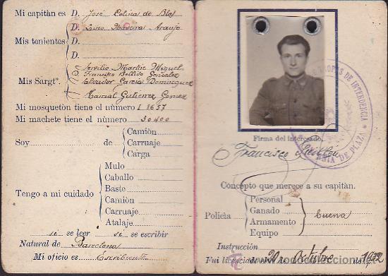 Militaria: CARNET MILITAR SEGUNDA COMANDANCIA DE INTENDENCIA - Foto 2 - 35535013