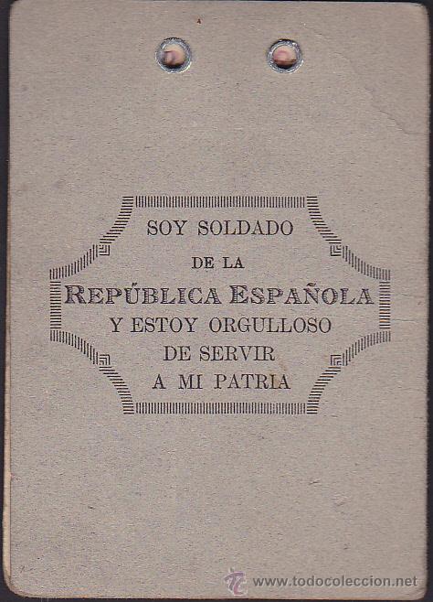Militaria: CARNET MILITAR SEGUNDA COMANDANCIA DE INTENDENCIA - Foto 3 - 35535013